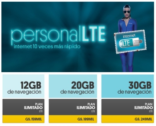 Personal LTE. Planes