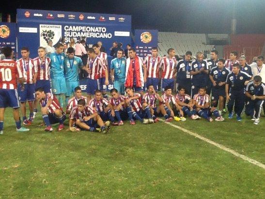 Selección Paraguaya Sub 20. Foto TV Pública Paraguay