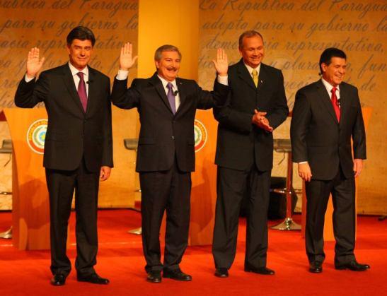 Debate presidencial. Foto publicada en la Fan Page Paraguay Alegre