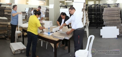 Justicia Electoral. Preparativos para las elecciones. Foto TSJE Digital.