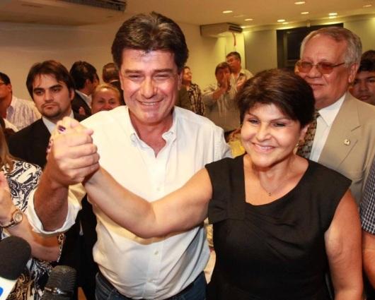 Efraín Alegre y Raquel Martín. Foto Facebook Paraguay Alegre