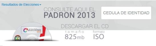Padrón electoral. Paraguay