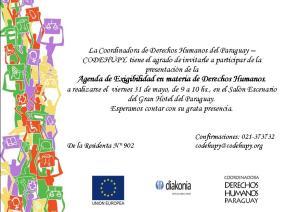 Invitación a la presentación de la Agenda