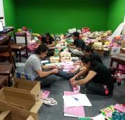 ¡Gran trabajo de los voluntarios!