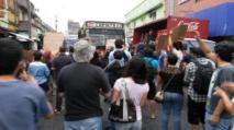 Manifestación contra el pasaje. Foto publicada en La Nación.
