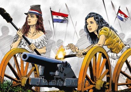Dibujo de Enzo Pertile para honrar a la mujer paraguaya.