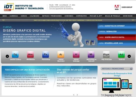 IDT. Portada del sitio www.idt.com.py