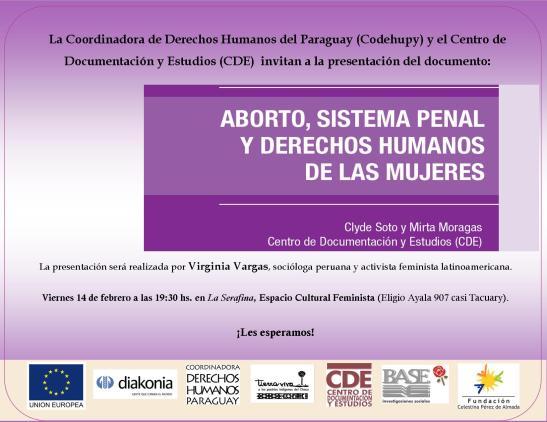 Lanzamiento de investigación sobre Aborto y el sistema penal
