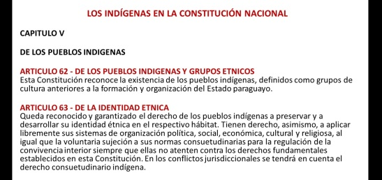 Los indígenas en la Constitución Nacional de Paraguay